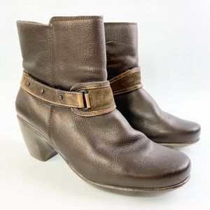 NAOT Brown Metallic Leather Boots